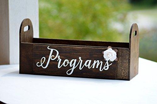 - Rustic Wedding Programs Box, Wood Card Holder, Graduation Party Decor, Bridal or Baby Shower Decorations
