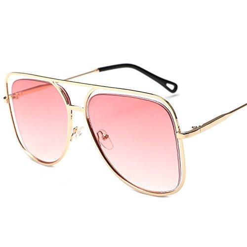 color de Shop coloridas de de Gafas oceánico Polvo sol de 6 individuales metálicas Dorado gafas de y Marco cuadrado sol Gradiente coloridas de Gafas sol gran sol ahuecadas gafas wSRrnwx6q