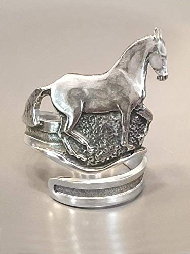 Horse Lady Gifts Dressage Horse Napkin Rings, Piaffe