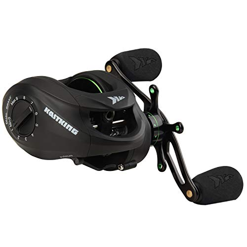KastKing Spartacus Baitcasting Reel – Multi Colors - Carbon Fiber Drag 17.5 LBs - 11 + 1 Shielded Stainless Steel Ball Bearings - The Perfect Warrior for Bass Fishing