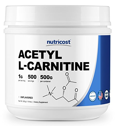 Nutricost Acetyl L-Carnitine (ALCAR) 500 Grams - 1000mg Per Serving - High Quality Pure Acetyl L-Carnitine Powder