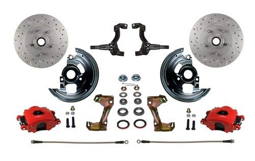 Front Spindle Disc Stock Brake (Leed Brakes RFC1002-FA3X Front Disc Brake Kit w/Stock Height Spindles GM A/F/X-B)