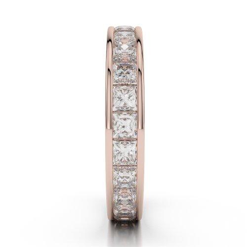 Or Rose 18carats 2,25CT G-H/VS sertie de diamants ronds Cut éternité Bague Agdr-1134