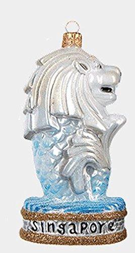 Merlion Statue Singapore Polish Mouth Blown Glass Christmas - Glasses Singapore