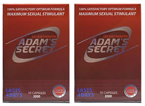 Adams Secret 2000 100% Natural Most Effective Male Performance Enhancement Energy and Endurance