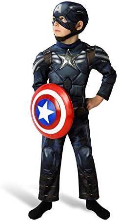 Captain america - Disfraz de capitán para niño, talla 3-4 años (I ...