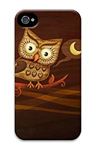 3D Hard Plastic Case for iPhone 4 4S 4G,Cute Halloween Owl Case Back Cover for iPhone 4 4S