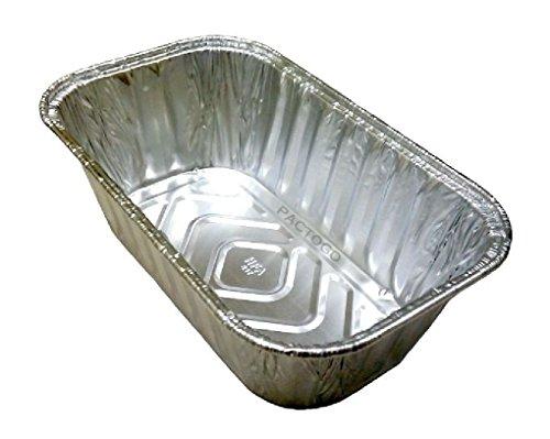1 lb. MiniLoaf/Bread Pan 200 Pack Disposable Aluminum Baking Tin