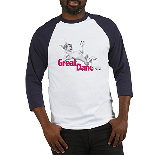- CafePress Great Dane Mantle LB Cotton Baseball Jersey, 3/4 Raglan Sleeve Shirt Blue/White