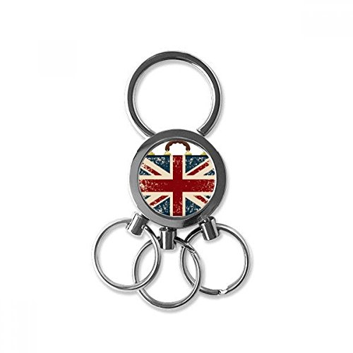 Union Jack Retro Suitcase Britain UK Flag Culture Metal Key Chain Ring Car Keychain Trinket Keyring Novelty Item Best Charm Gift from DIYthinker