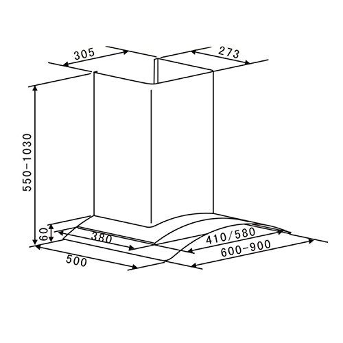 Klarstein Hotspot 3 niveles Extractor de humos 60 cm Autoapagado con indicador digital Plateado Absorci/ón y ventilaci/ón 610 m/³//h Campana extractora Acero 2 filtros de carbono