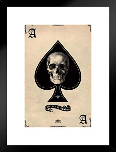 Ace Framed - Pyramid America Ace of Spades Card Gaming Matted Framed Poster 20x26 inch