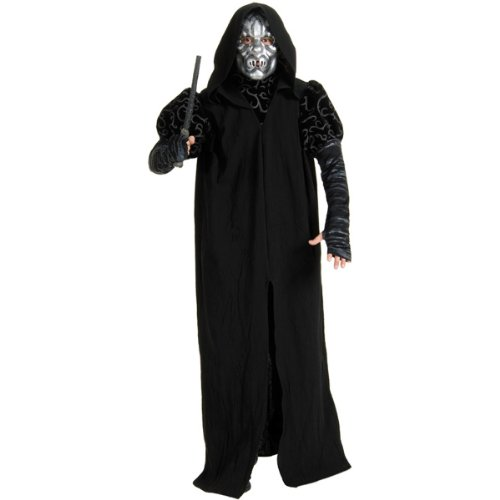 [Deluxe Death Eater Costume - Standard - Chest Size 46] (Ron And Hermione Costumes)