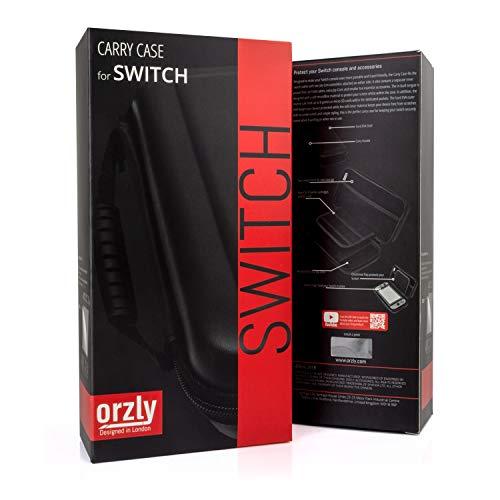 Orzly Carry Case Compatible con Nintendo Switch - BLACK Funda protectora portátil de viaje portátil Funda de transporte para Nintendo Switch Consola y accesorios