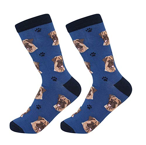 Bull Mastiff Socks - Soft Combed Cotton - One Size Fits Most - Perfect Gift for Bull Mastiff
