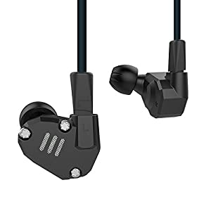 KZ ZS6 Quad Driver High Fidelity Extra Bass HiFi in Ear Earphone Detachable Cable (Grey Without Mic)