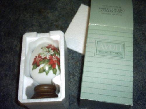 Avon's Winter Treasure Porcelain (Avon Porcelain Egg)