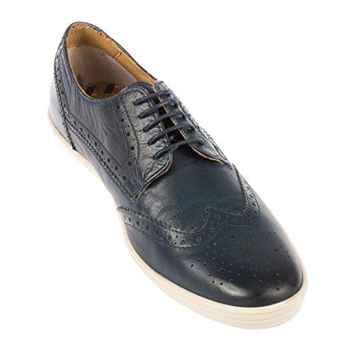 Base London - Zapatos de cordones para hombre blank azul marino