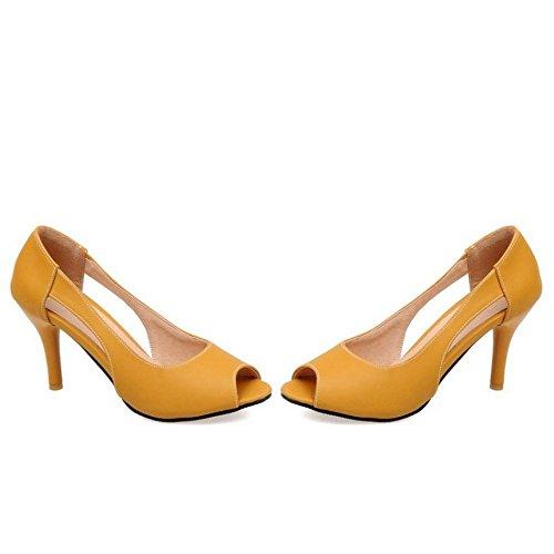 Sandales Yellow Peep Femmes Ete JOJONUNU Toe cBUI66q