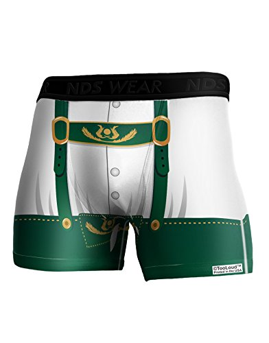 TooLoud Lederhosen Costume Green Boxer Brief Dual Sided 2XL All Over Print]()