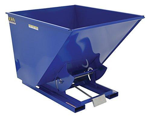 2 Cu. Yd. Self-Dumping Steel Hopper with Bump Release, 2000 Lb., Vestil D-200-LD, Lot of 1 (Dumping Vestil Hopper Self)