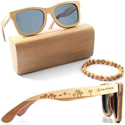 Orbitree - Wood Sunglasses for Men and Women. 100% Maple ()