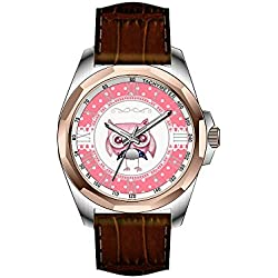 AIMS Christmas gift Mens gold Personalized Unique Fashion Design Waterproof Wrist Watch Beautiful Elegant Owl Watch