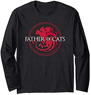 Father of Cats  - Cat Lovers Cat Dad Gift Long Sleeve T-shirt | Size S - 5XL