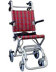 Mobiclinic, Neptuno, Opvouwbare rolstoel voor volwassenen, transportrolstoel, Aluminium duwstoel, opvouwbaar, met remmen, veiligheidsgordel, remmen op de hendels, lichtgewicht, geruit ontwerp