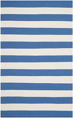 Safavieh La Paz Flachgewebe Teppich, blau/weiß, 121x 182cm