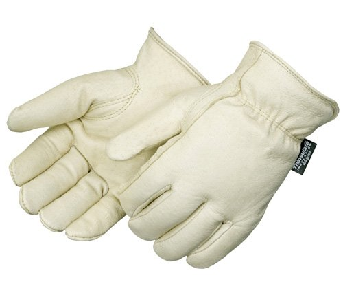 Gloves Drivers Grain Pigskin - Liberty 7217 Standard Grain Pigskin Insulated Leather Glove with Keystone Thumb and Red Fleece Lined, X-Large (Pack of 12)