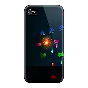 New Iphone 4/4s Cases Covers Casing(space Invaders)