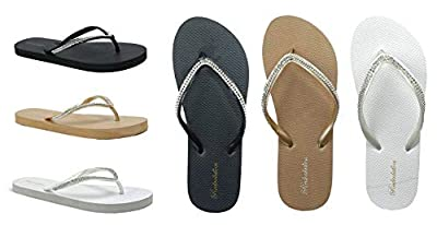 New Women's Rhinestone Sandals Diamond Head Flip Flop Beach, Gym, Pool | 313L