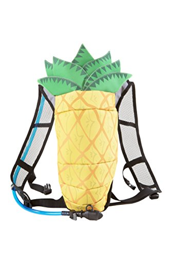 Paks & Rec Hydration Pack Backpack with Fun Pineapple Design | 2L Water Bladder | Water Pack Perfect for Music Festivals, Raves, Concerts, Hiking, Biking, Running, Camping, Skiing & Outdoor Sports