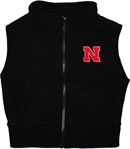 Creative Knitwear University of Nebraska Huskers Baby and Toddler Polar Fleece Vest Black