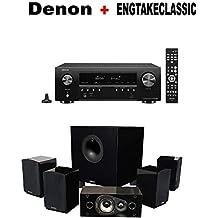 Denon AV Component Receiver (AVRS540BT) + Energy 5.1 Take Classic Home Entertainment System (Set of Six, Black) Bundle