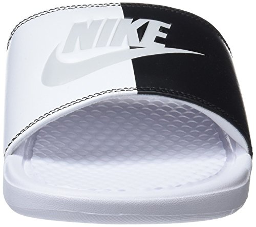 White Black and JDI Shoes Women's Benassi White Pool 104 Beach Pure Black Nike Platinum wIxA8qPBw