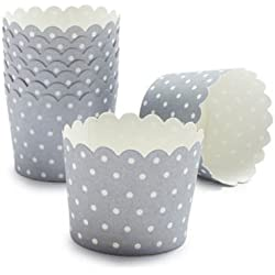 Baking Cups with Silver Sundae Spot