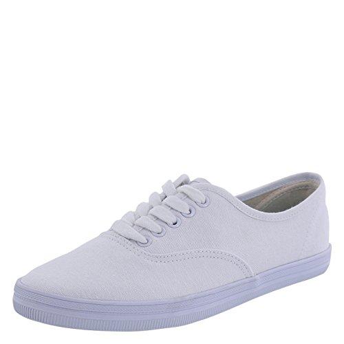 City Sneaks Women's White Women's Bal Sneaker 7.5 Regular - City Sneaks