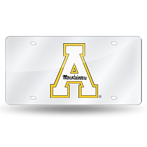 Rico Industries NCAA Appalachian State Mountaineers Laser Inlaid Metal License Plate Tag, ()