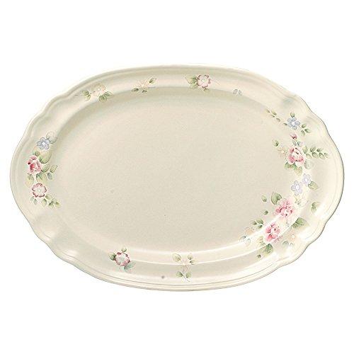 Pfaltzgraff Tea Rose Oval Serving Platter, 14-Inch