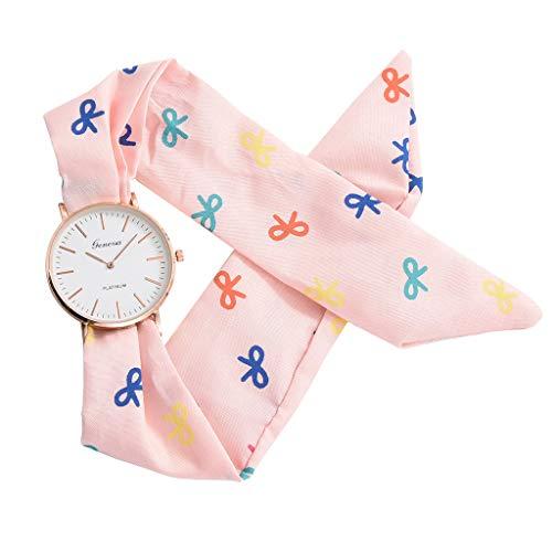 - Sodoop Women's Dress Watches, Luxury Breathable Flower Cloth Design Watch,Summer Sweet Bracelet Quartz Watch with White Dial,Girl