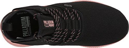 Sneaker In Pelle Di Palladio Axeon E Sneaker Nero / Nero / Rosa