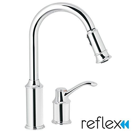 Aberdeen One-Handle High Arc Pulldown Kitchen Faucet, Chrome - Moen 7590C