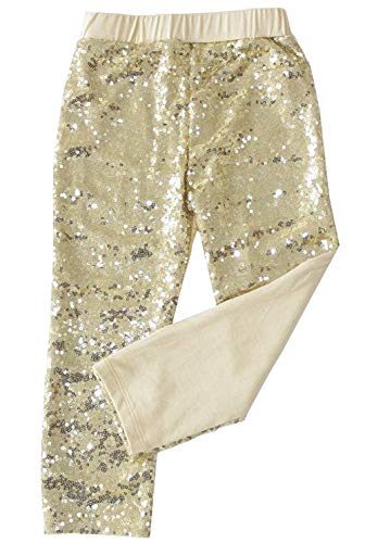 Messy Code Girls Leggings Baby Sequin Pants Toddler Trousers Boutique Clothes Gold,Lt Gold,XXL(4-5Y)]()