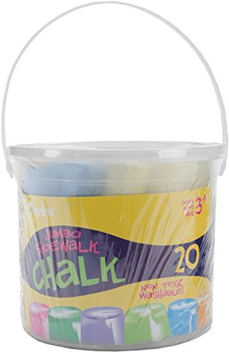 Darice Assorted Sidewalk Chalk, Jumbo, 20-Pack 238498