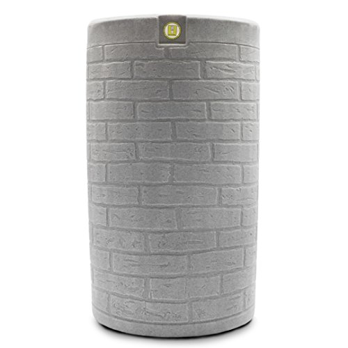 Good Ideas IMP-D50-LIG Impressions Downton Rain Saver Rain Barrel, 50 gallon, Light Granite (Pit Fire Diy Patio Ideas)