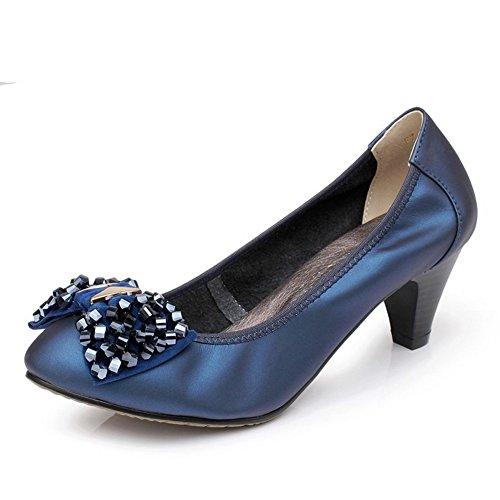 Schuhe Schuhe heel Bogen Lady high klein Koreanisch Rundköpfigen IqarI