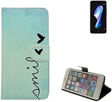 K-S-Trade 360° Funda Smartphone para BQ Aquaris V Plus, Smile ...
