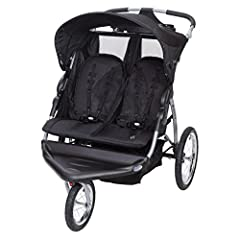 Take your family jogging with the Baby Trend Expedition EX Double Jogging Stroller. Made for two children, this Jogging Stroller features composite tires and a locking front swivel wheel that allows you to keep the front wheel in place while ...
